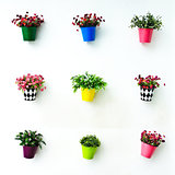 Decoration artificial flower on wall