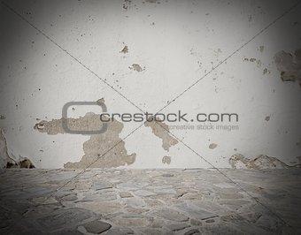 Grey deteriorated background