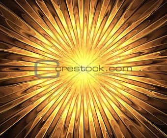 Fractal sun and rays