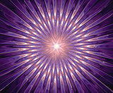 Abstract violet fractal composition. Magic explosion star