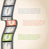 Film strip countdown infographic
