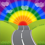 Road to a bursting gay lesbian sky