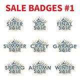 Set of Huge sale badges