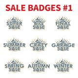 Set of Huge sale badges
