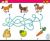 paths or maze cartoon task