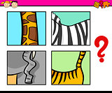guess animal cartoon task