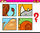 animal puzzle preschool game