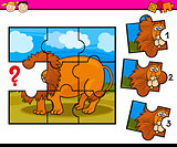 puzzle preschool cartoon game