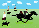 racing - businessmen riding a horse