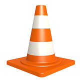 Traffic cone isolated with white background