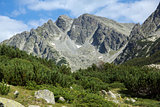 Amazing panorama of the Yalovarnika peaks in Pirin Mountain