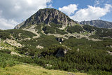 Landscape of the Tooth peak in Pirin Mountain