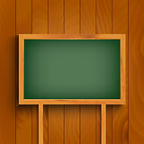 School green board on wooden wall template