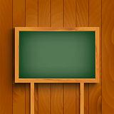 School green board on wooden wall template