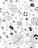 Hand drawn doodles seamless pattern