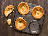 rustic golden british yorkshire pudding