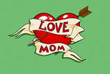 love mom tattoo