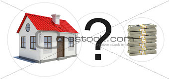 House with money and question mark