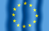 EU flag background