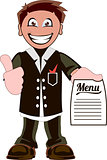 Cartoon waiter