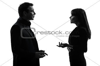 business  couple woman man silhouette