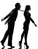 couple woman seductress bonding concept  silhouette