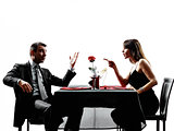 couples lovers dating dinner  dispute arguing