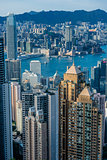 Hong Kong Bay Central skyline cityscape