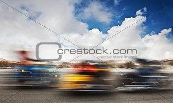 Slow motion on motorbikes