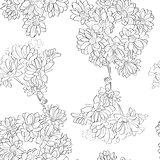 flowers sketch pattern