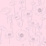 poppies sketch pattern