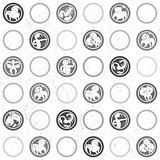 zodiac grungy retro pattern