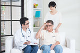 Parents healthcare concept
