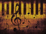 Vintage musical background with piano