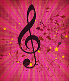 Vintage pink music background