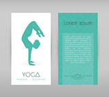 Woman doing yoga asanas, flyers