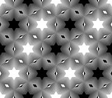 Design seamless monochrome star pattern