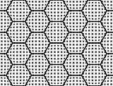 Design seamless checked hexagon pattern