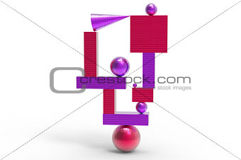abstract geometric structure in color