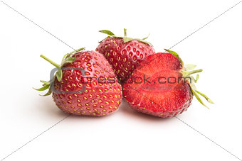 group of strawberry on white background