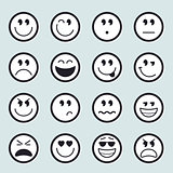 Set of vector emoticons icons