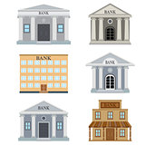 Set of bank buildings.