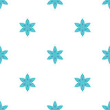 Simple flowers seamless pattern