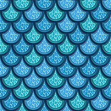 Seamless turquoise river fish scales