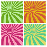 tunnel vortex in multiple color stripe pattern