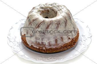 Cake with vanilla cream.