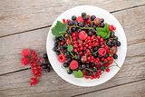 Fresh ripe berries plate