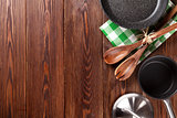 Cooking utensil on wooden table