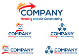 Air conditioning business logo or icon
