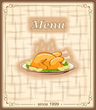 banner for menu with chicken